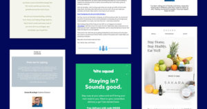How 5 Retailers Are Responding to COVID-19: Ecommerce Brands That Are Delivering Comfort to Inboxes